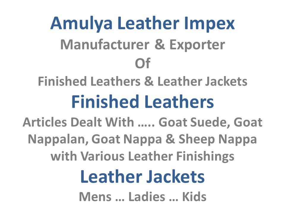 Amulya Leather Impex