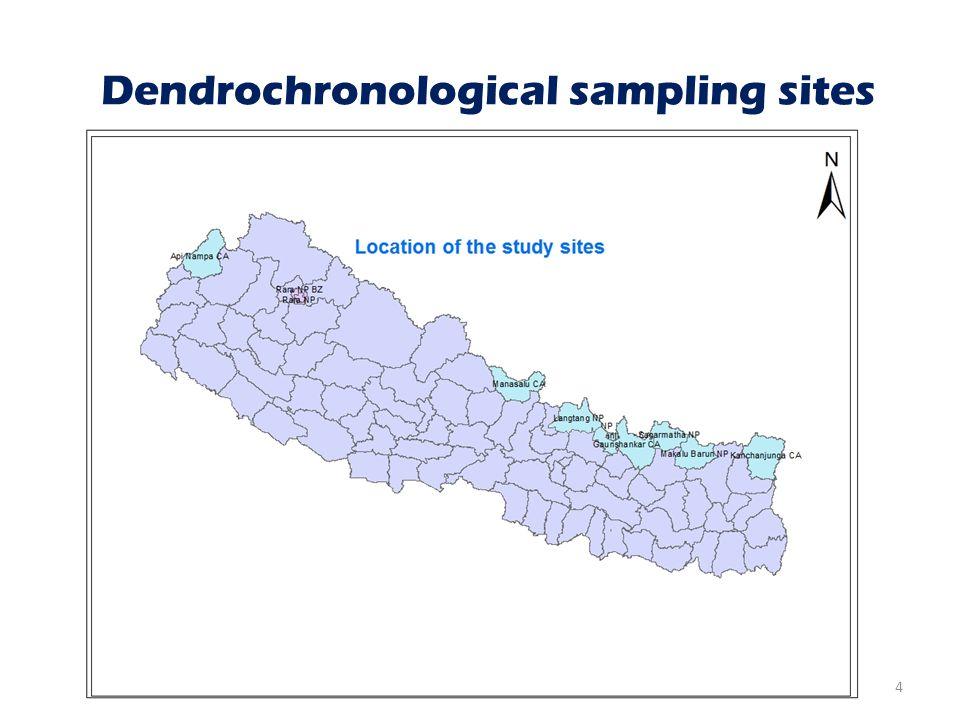 Dendrochronological sampling sites 4