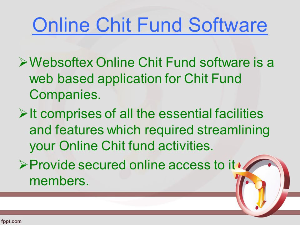 Online Chit Fund Software  Websoftex Online Chit Fund software is a web based application for Chit Fund Companies.
