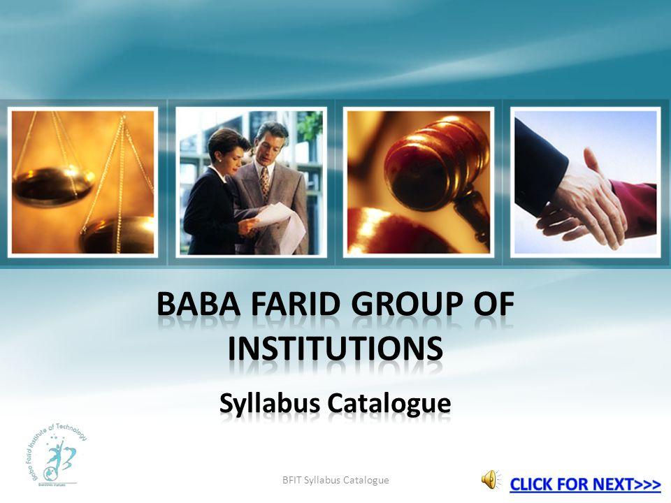 BFIT Syllabus Catalogue