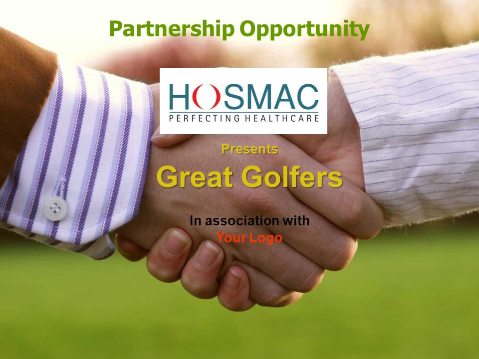 Partnership Opportunity Presents Great Golfers In association with Your Logo