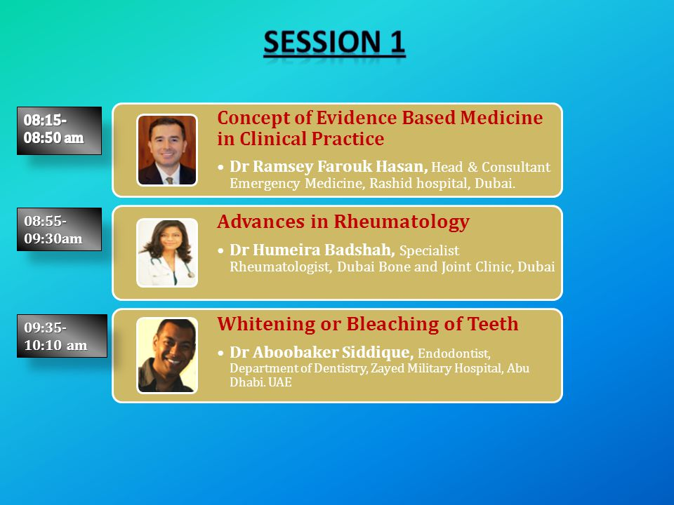 Concept of Evidence Based Medicine in Clinical Practice Dr Ramsey Farouk Hasan, Head & Consultant Emergency Medicine, Rashid hospital, Dubai. Advances