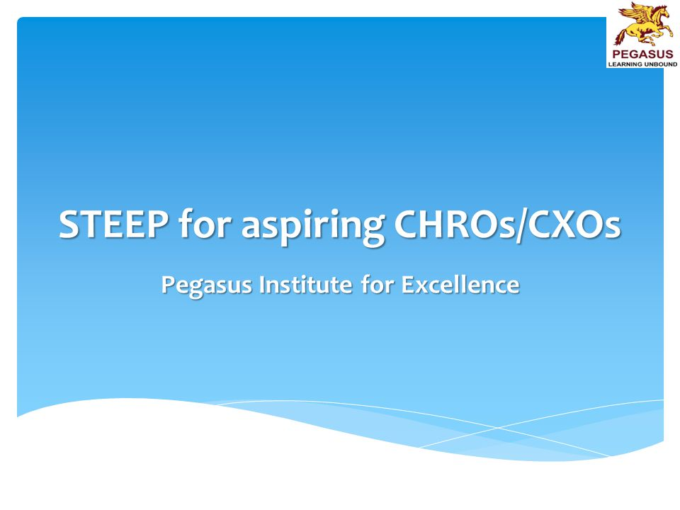 STEEP for aspiring CHROs/CXOs Pegasus Institute for Excellence