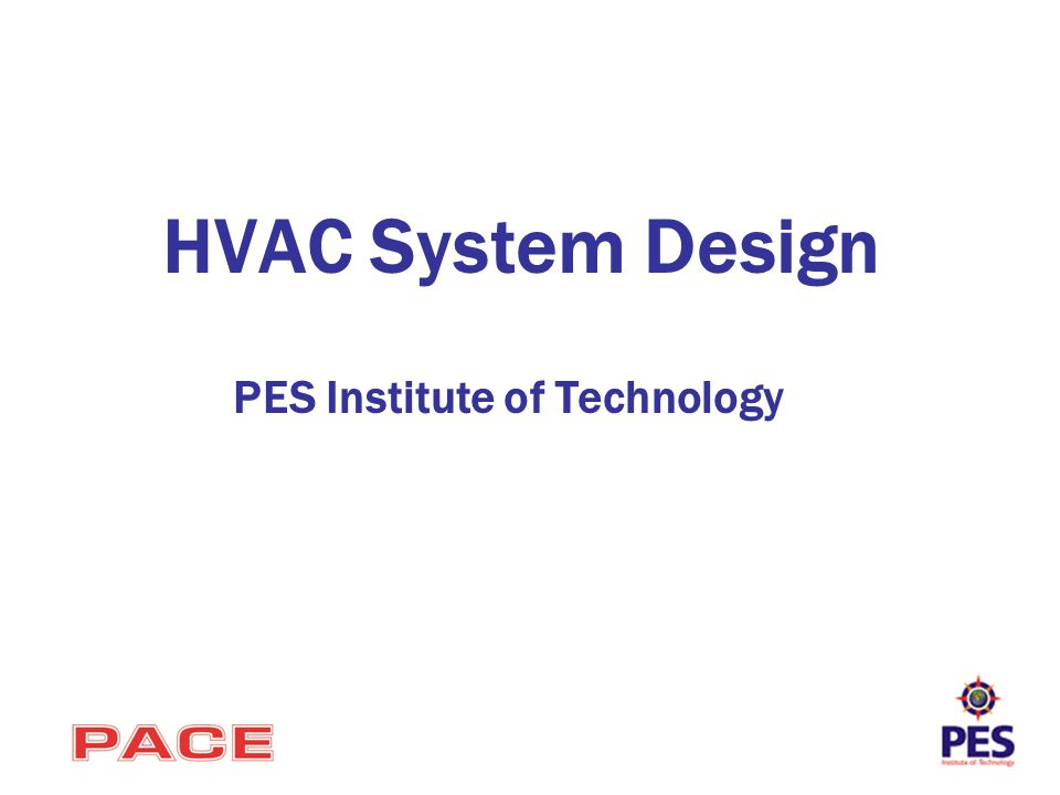 HVAC System Design PES Institute of Technology