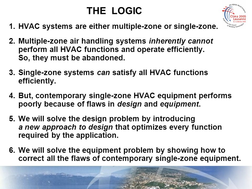 FIXING THE EQUIPMENT OPTIMIZING VENTILATION IN SINGLE-ZONE SYSTEMS