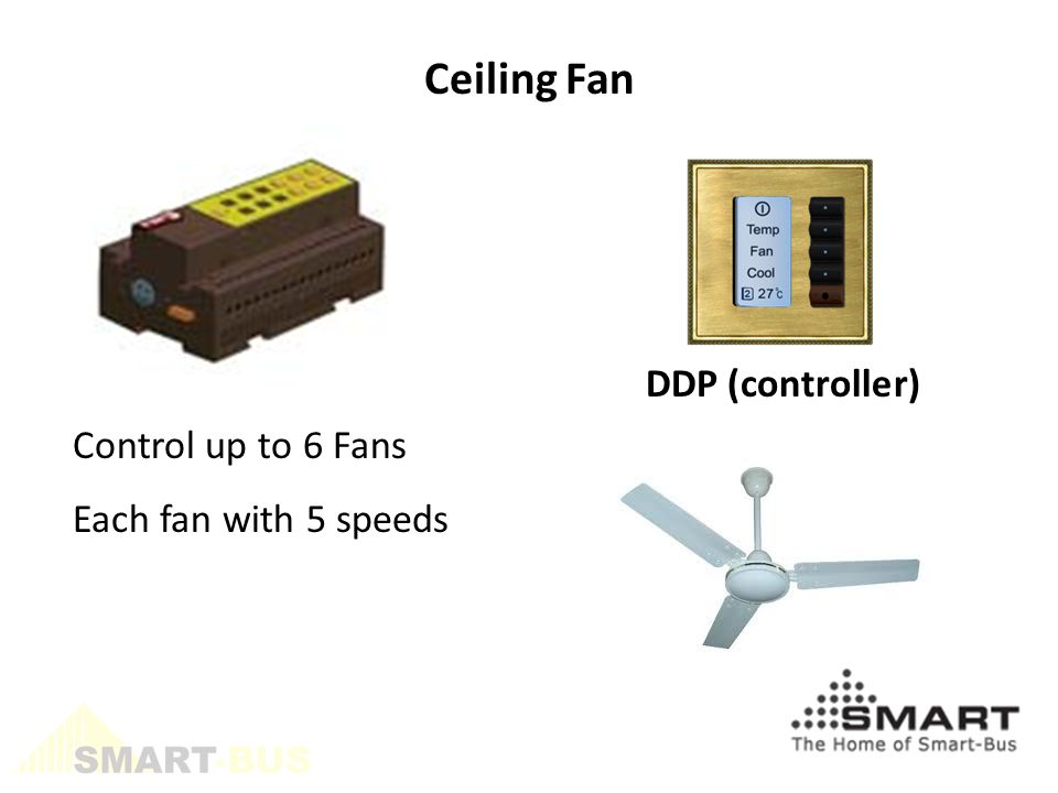 DDP (controller) Ceiling Fan Control up to 6 Fans Each fan with 5 speeds