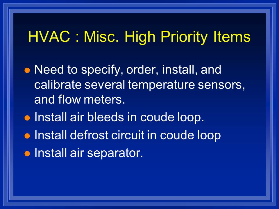 HVAC : Misc.