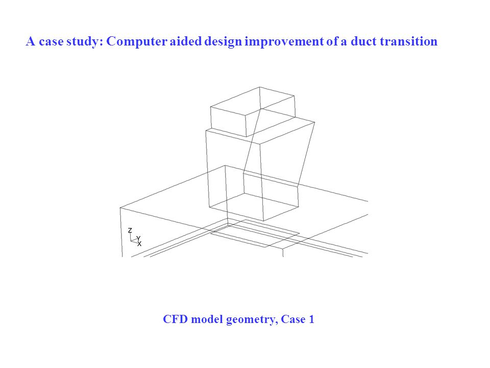 A case study: Computer aided design improvement of a duct transition CFD model geometry, Case 1