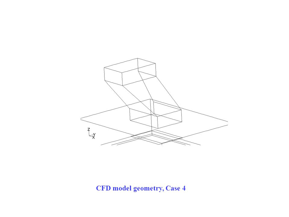 CFD model geometry, Case 4