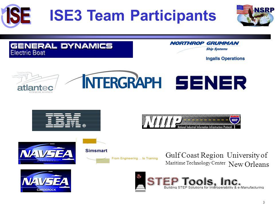 34 Analysis (Simsmart ™) Analysis (Simsmart ™) Initial HVAC Design (ISDP) Initial HVAC Design (ISDP) Detailed Design Tool 1 (TRIBON) Detailed Design Tool 1 (TRIBON) Manufacturing (EB Sheet Metal) Manufacturing (EB Sheet Metal) Teaming Shipyard Detailed Design (FORAN) Teaming Shipyard Detailed Design (FORAN) Analysis Detailed Design Tool 2 (CATIA) Detailed Design Tool 2 (CATIA) Parts (CPC) Legend demonstrated discussed Order Material Parts (CPC) Parts (CPC) Parts Catalog CAD Tool ISE3 Demo Overview Parts (CPC) Parts (CPC) Analysis Tool Manufacturing