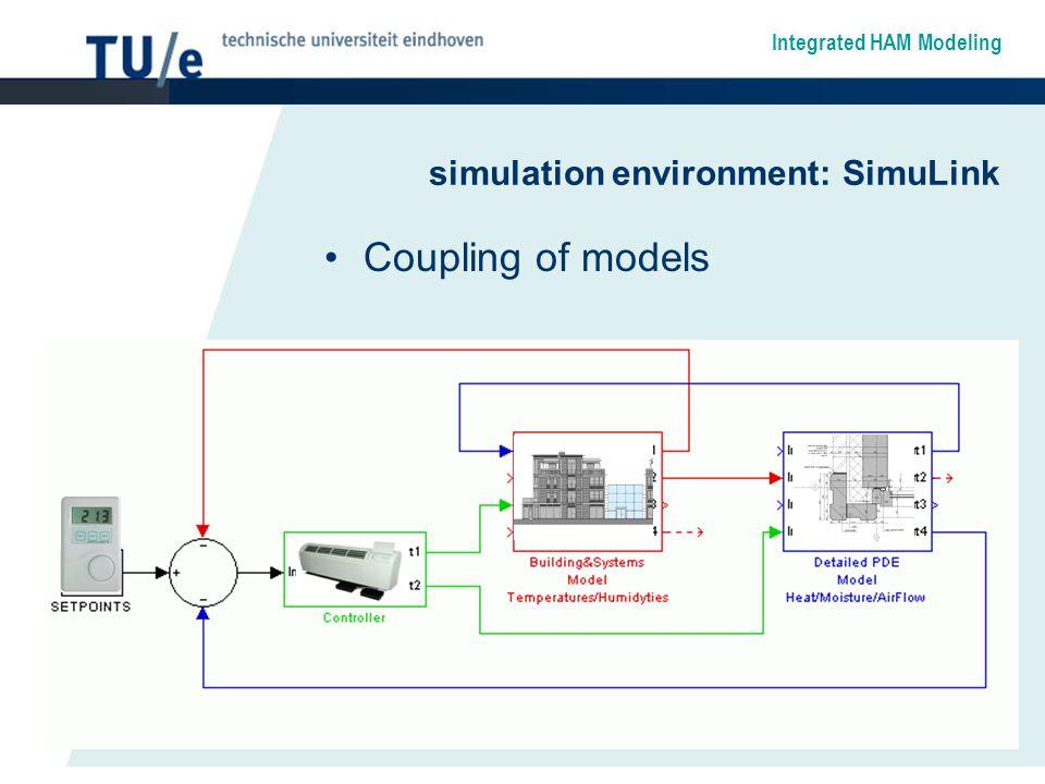 simulation environment: SimuLink Coupling of models