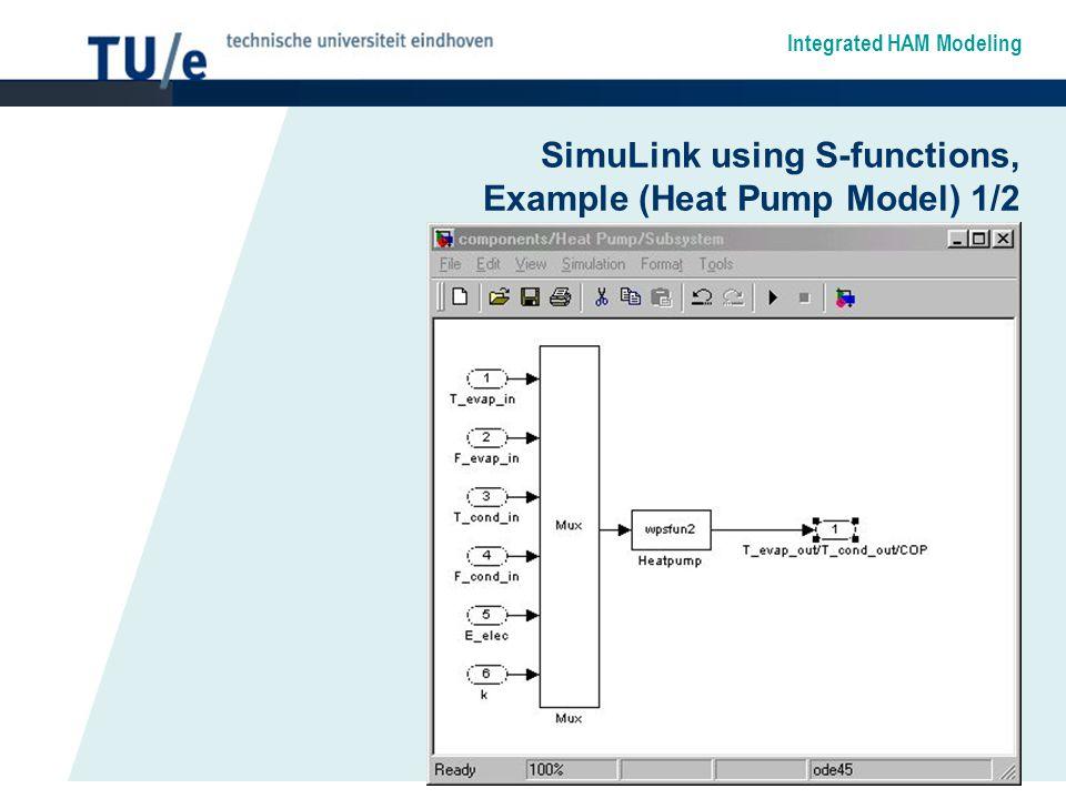 SimuLink using S-functions, Example (Heat Pump Model) 1/2