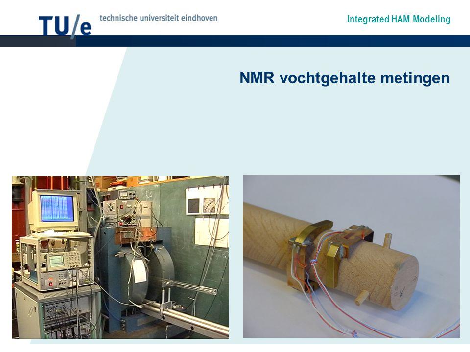 Integrated HAM Modeling NMR vochtgehalte metingen