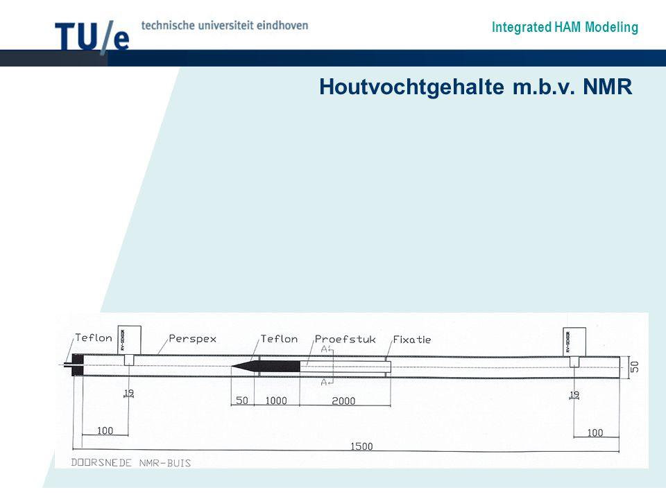 Integrated HAM Modeling Houtvochtgehalte m.b.v. NMR