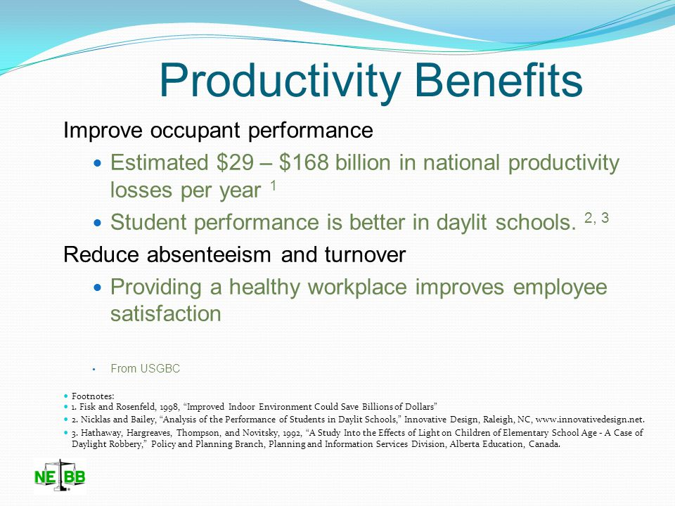 Productivity Benefits Greatest Impact Of Retrocommissioning is Productivity