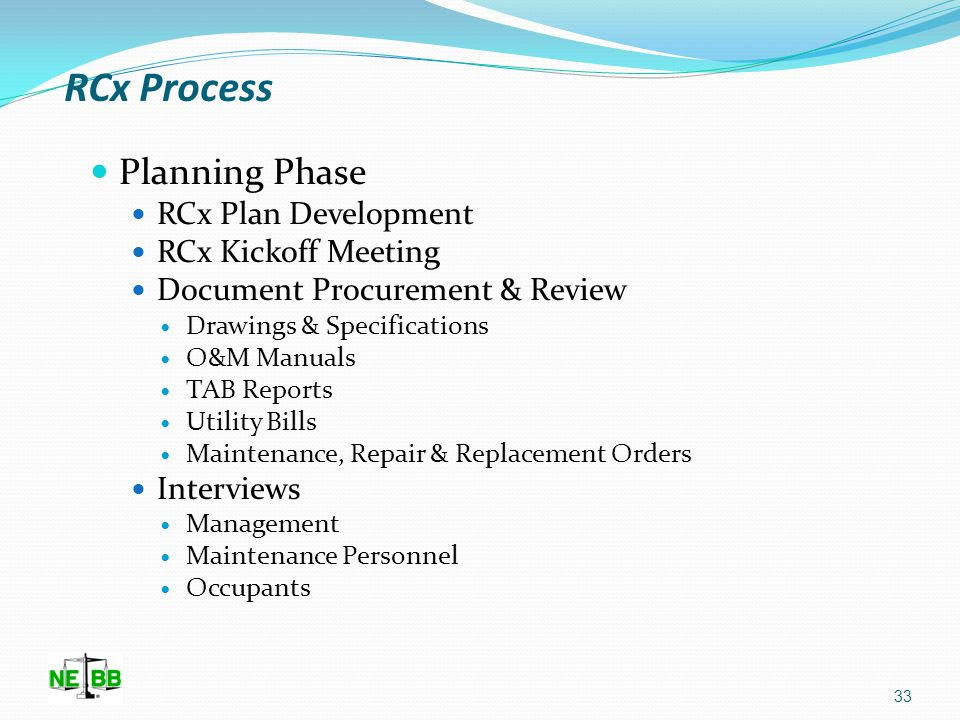 RCx Process Professional Services Contract Building Walk-thru May not be able to walk facility, what do you do.