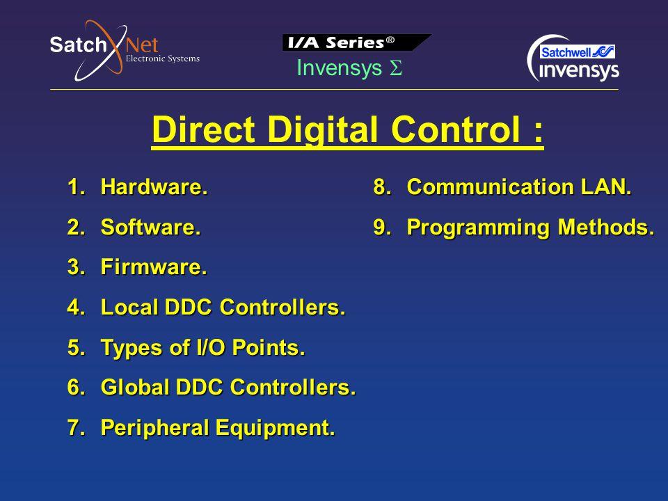 Invensys  Direct Digital Control : 1.Hardware. 2.Software.