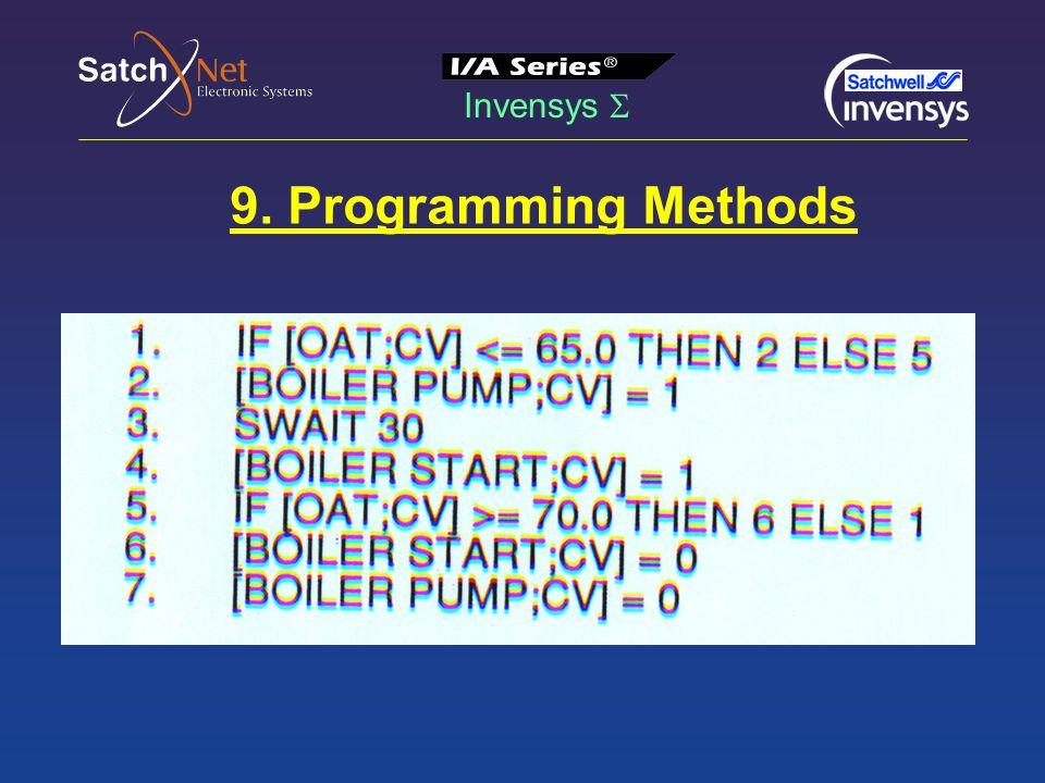 Invensys  9. Programming Methods