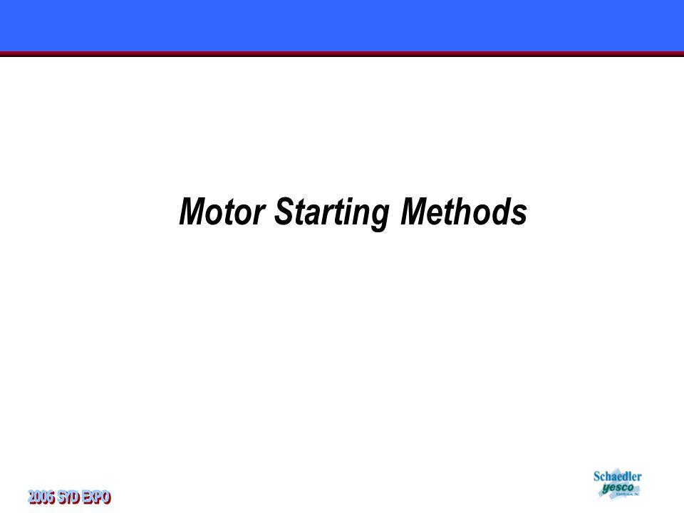 Motor Starting Methods