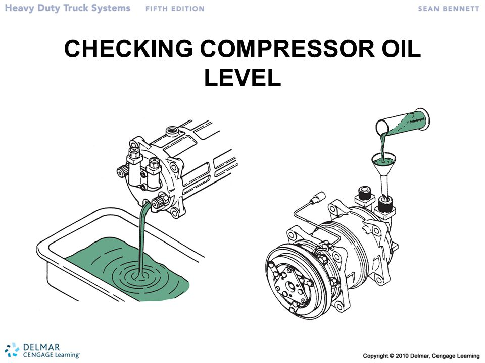 CHECKING COMPRESSOR OIL LEVEL