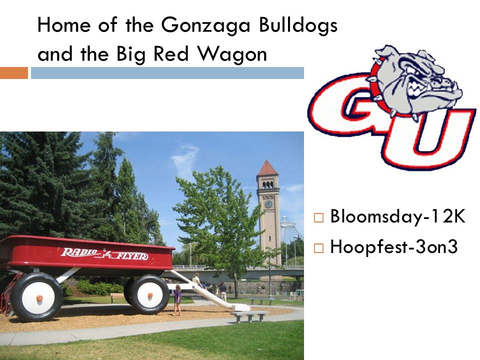 Home of the Gonzaga Bulldogs and the Big Red Wagon  Bloomsday-12K  Hoopfest-3on3