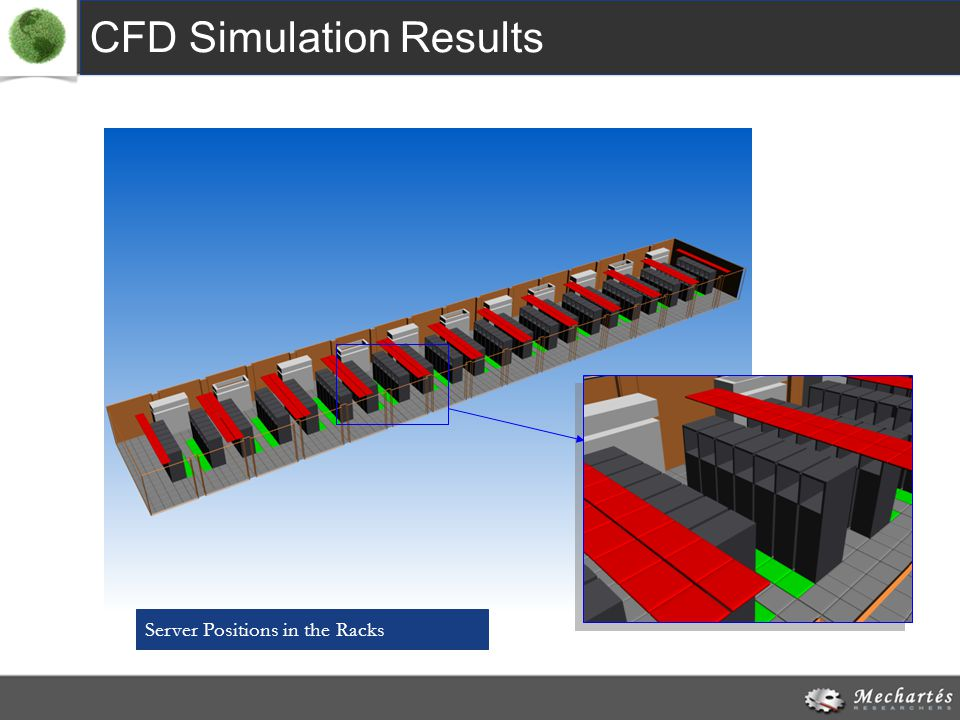 CFD Simulation Results Server Positions in the Racks