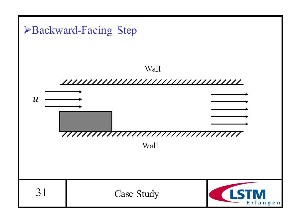 31 Case Study  Backward-Facing Step u Wall