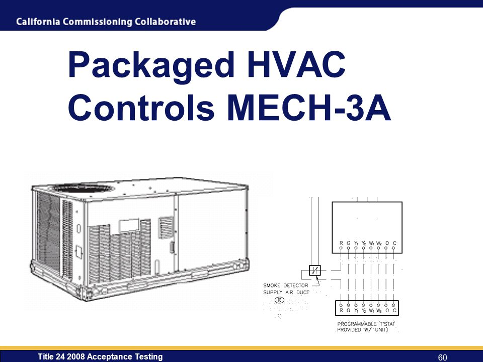Title 24 2008 Acceptance Testing 60 Packaged HVAC Controls MECH-3A