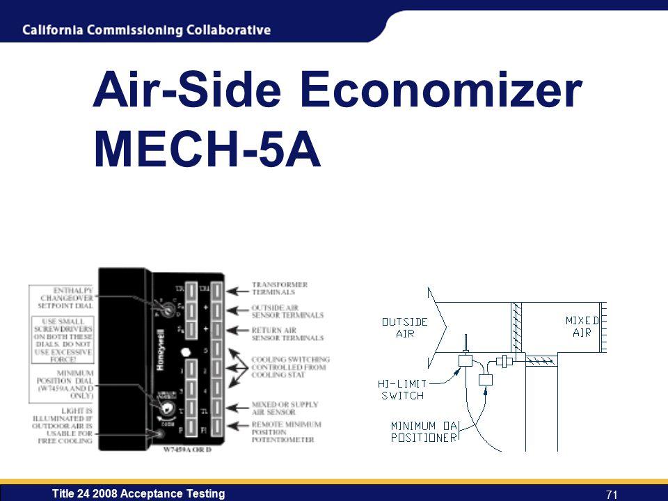 Title 24 2008 Acceptance Testing 71 Air-Side Economizer MECH-5A