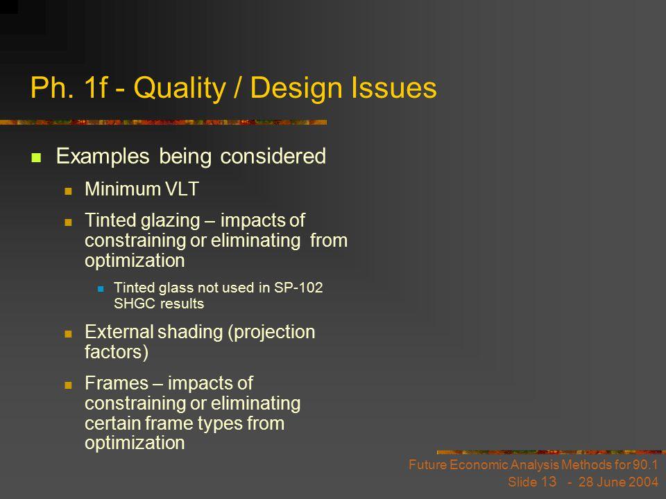 Future Economic Analysis Methods for 90.1 Slide 13 - 28 June 2004 Ph.