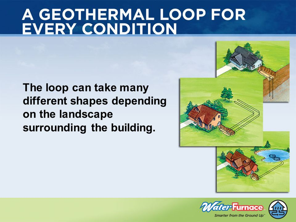 The loop can take many different shapes depending on the landscape surrounding the building.