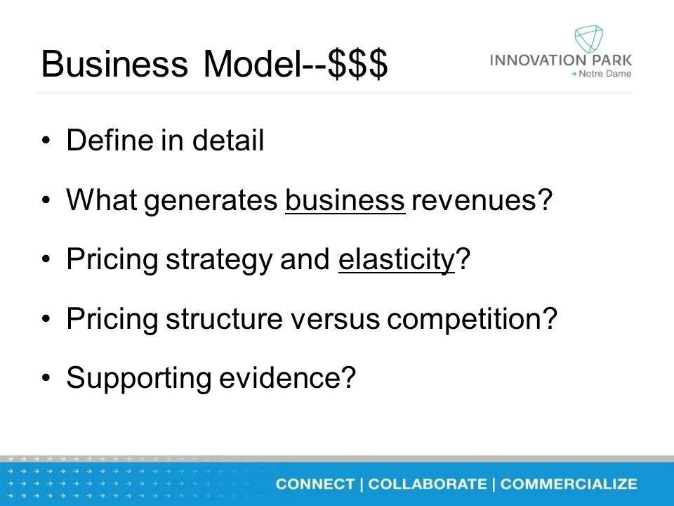 Business Model--$$$ Define in detail What generates business revenues.