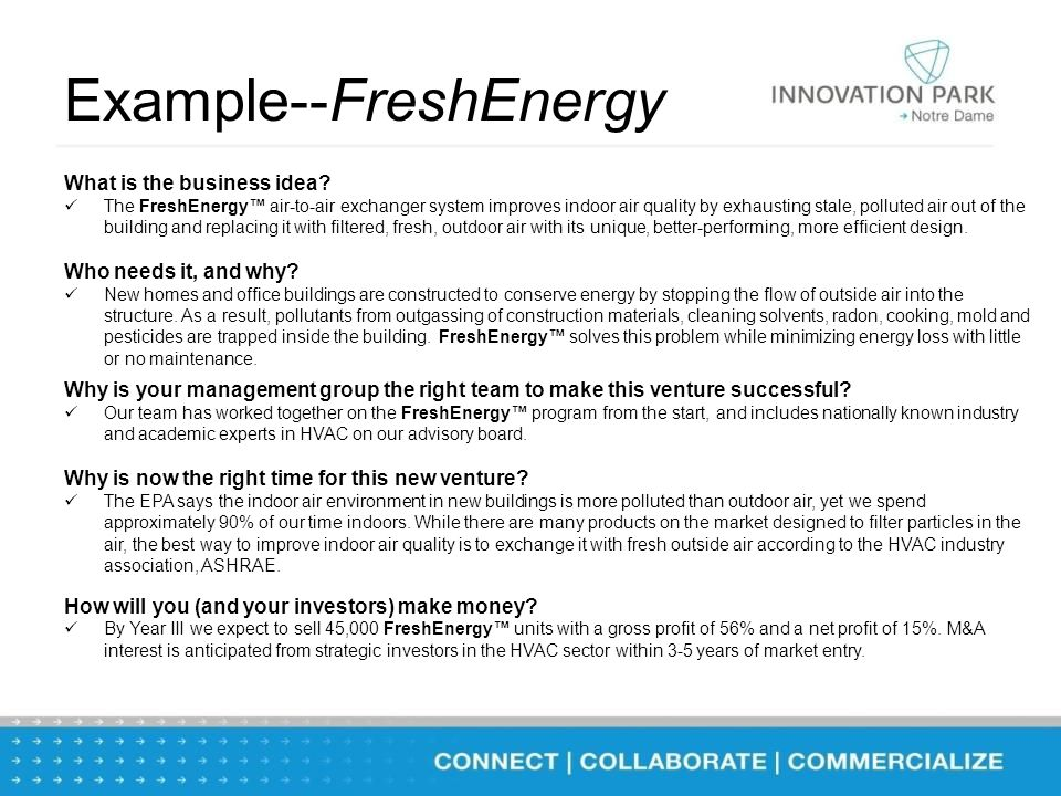 Example--FreshEnergy What is the business idea.