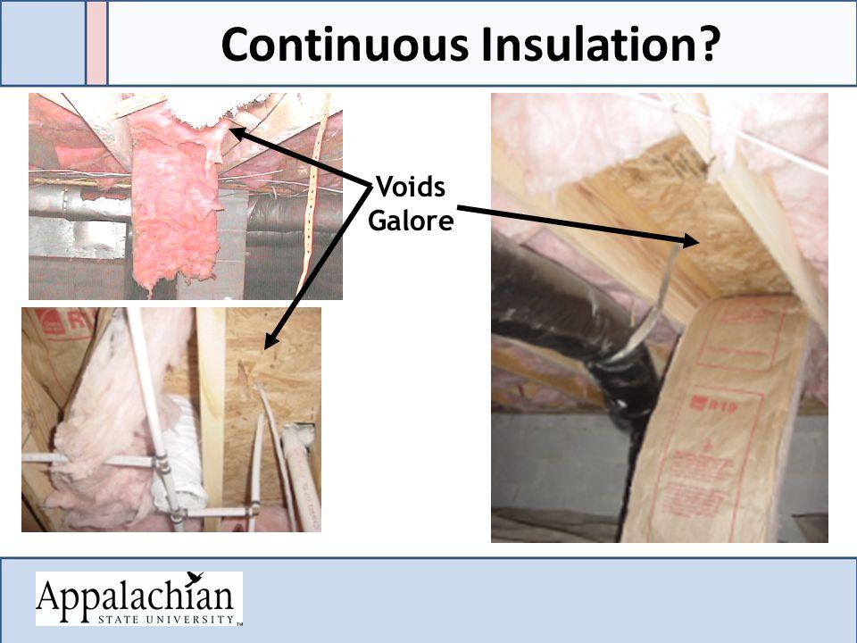 Voids Galore Continuous Insulation?