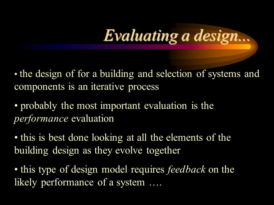 Evaluating a design...