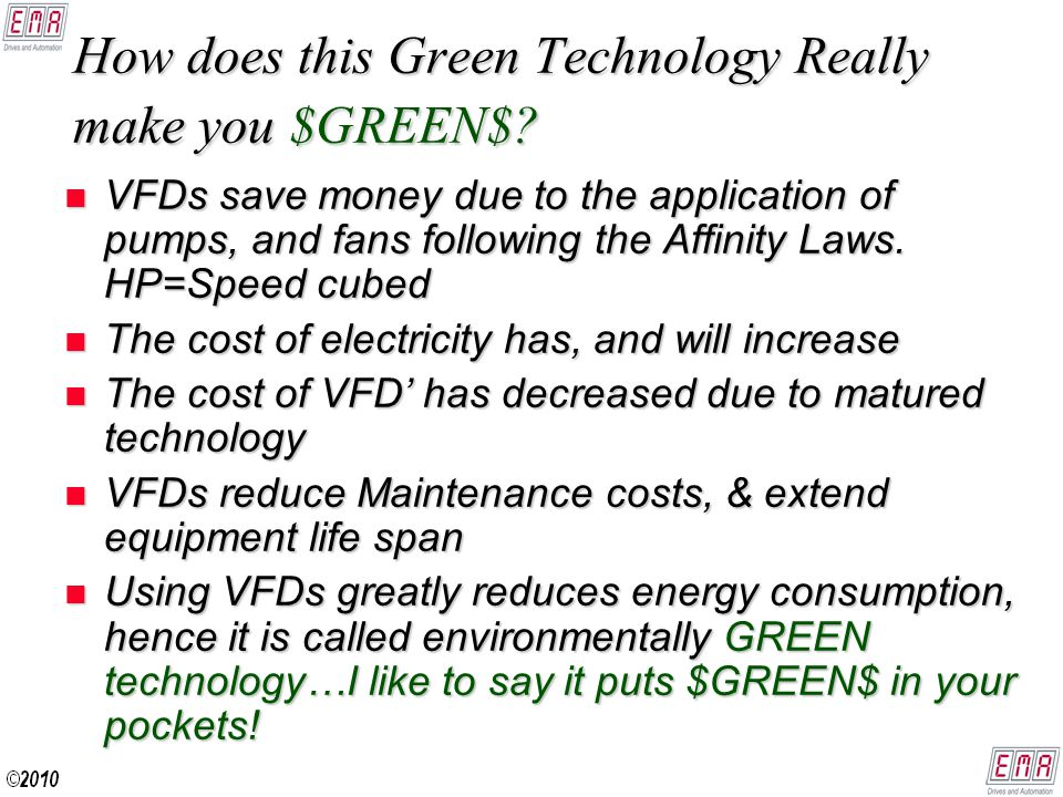 How does this Green Technology Really make you $GREEN$.