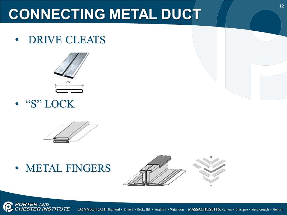 """12 CONNECTING METAL DUCT DRIVE CLEATS """"S"""" LOCK METAL FINGERS DRIVE CLEATS """"S"""" LOCK METAL FINGERS"""
