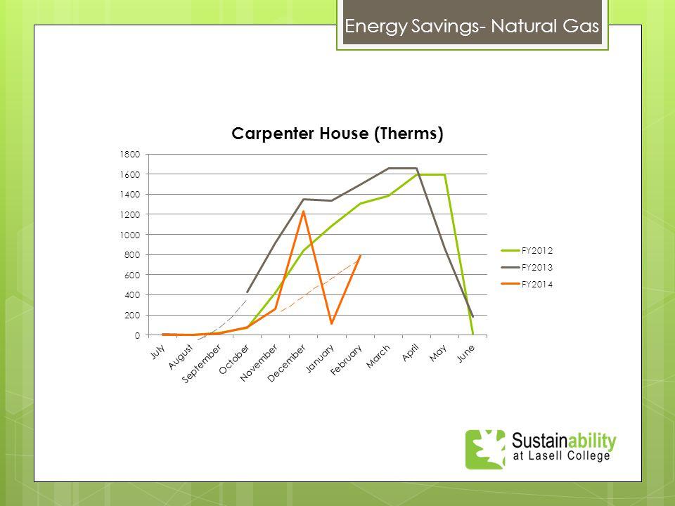 Energy Savings- Natural Gas