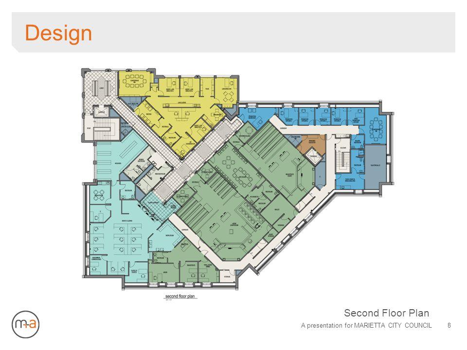 Design A presentation for MARIETTA CITY COUNCIL8 Second Floor Plan