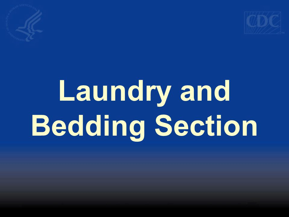 Laundry and Bedding Section