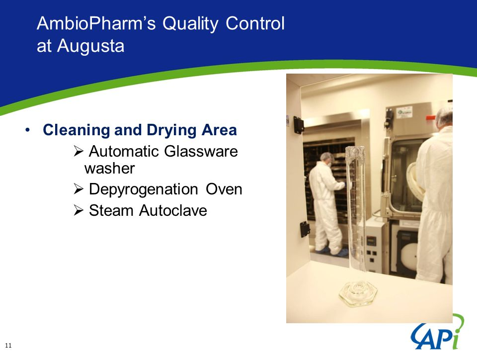 AmbioPharm's Quality Control at Augusta Cleaning and Drying Area  Automatic Glassware washer  Depyrogenation Oven  Steam Autoclave 11