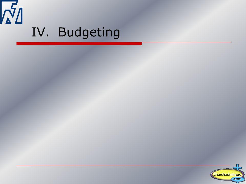 IV. Budgeting