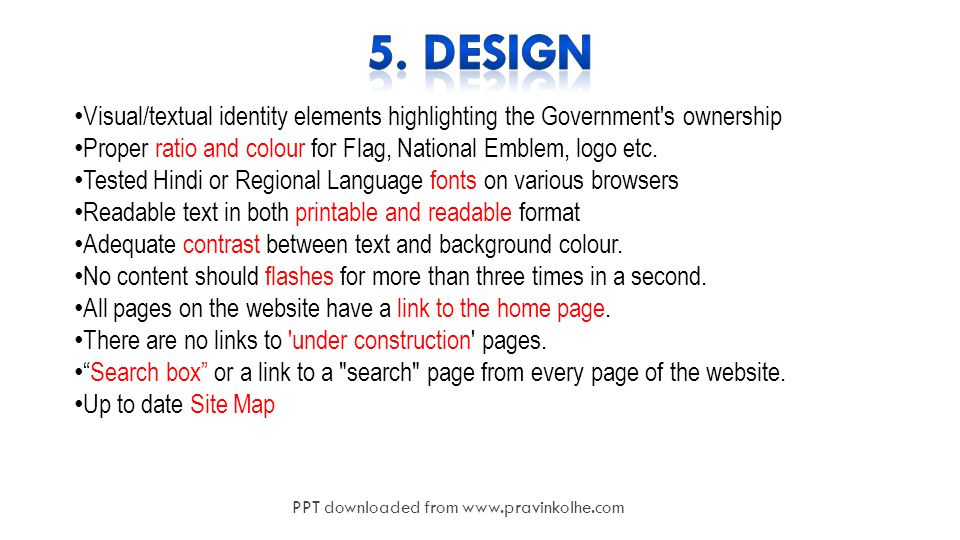 15 Visual/textual identity elements highlighting the Government s ownership Proper ratio and colour for Flag, National Emblem, logo etc.