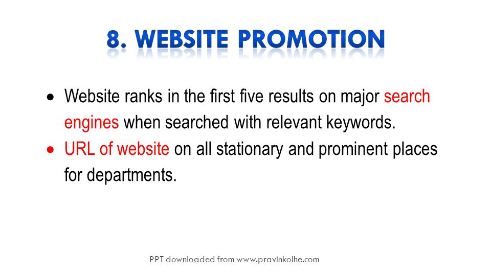18  Website ranks in the first five results on major search engines when searched with relevant keywords.