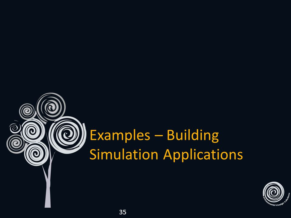 Examples – Building Simulation Applications 35