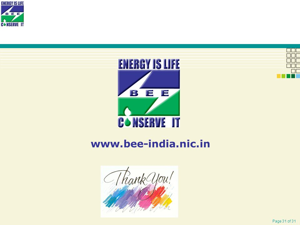 Page 31 of 31 www.bee-india.nic.in