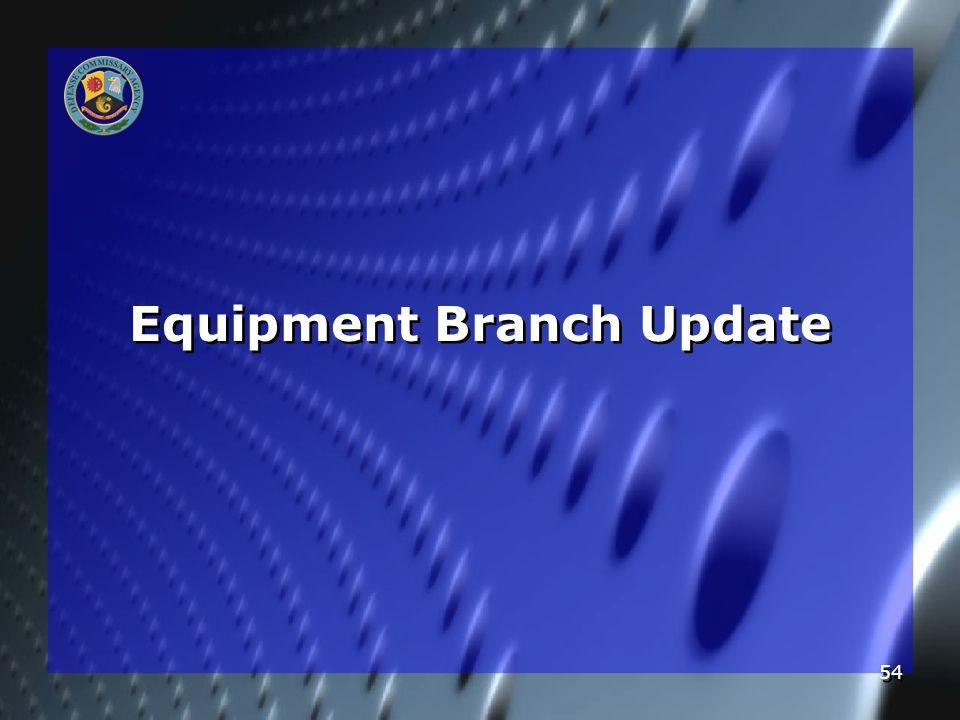 54 Equipment Branch Update