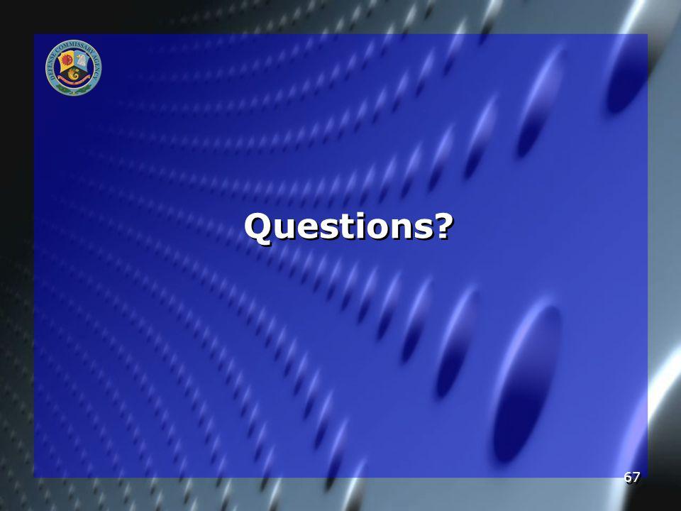 67 Questions?