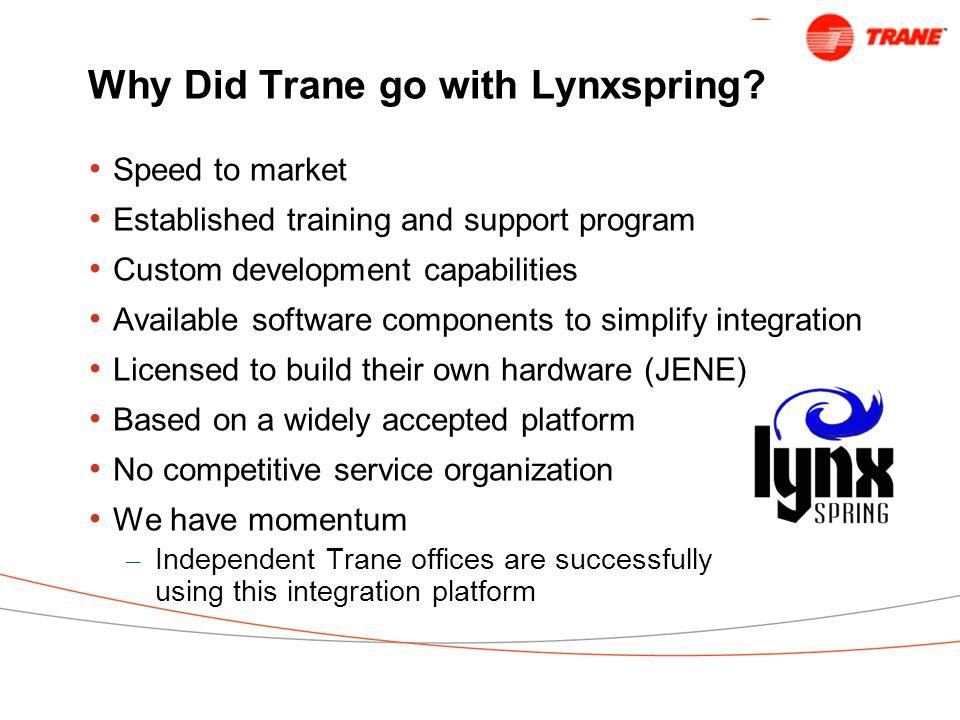 Why Did Trane go with Lynxspring.