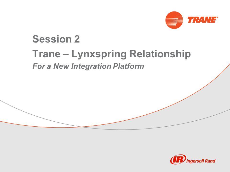 Session 2 Trane – Lynxspring Relationship For a New Integration Platform